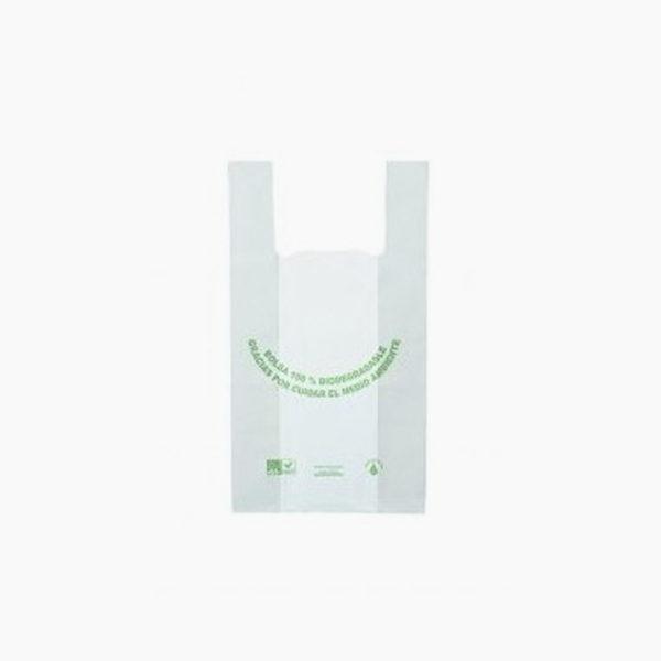 bolsa ecológica camiseta pequeña de Plastibio