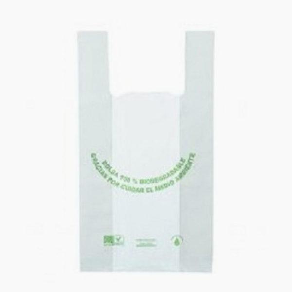 bolsa ecológica camiseta grande de Plastibio