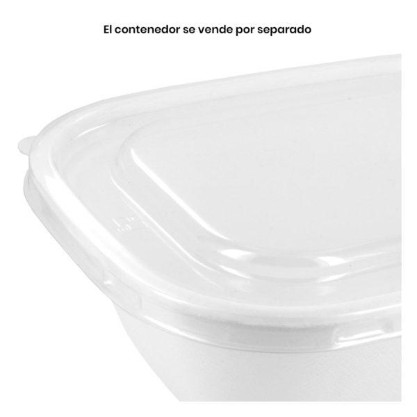 tapa pet reciclable para contenedores para llevar de 0.94 y 1.89 litros