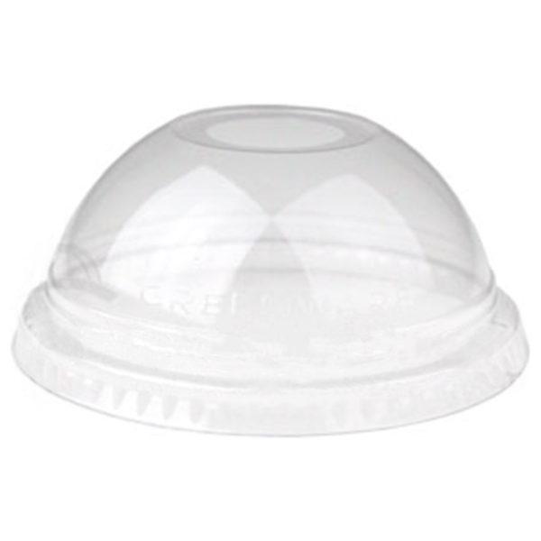 tapa tipo domo de pla compostable para vasos de 0.26 a 0.70 litros