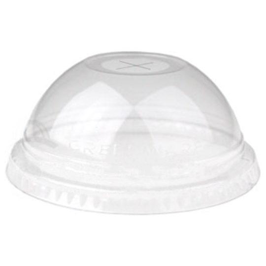 tapa tipo domo con ranura en x compostable para vasos de 0.26 a 0.70 litros