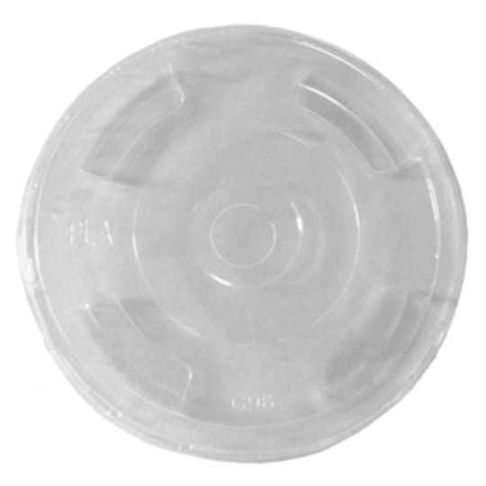 tapa plana de pla compostable para vasos de 0.26 a 0.70 litros