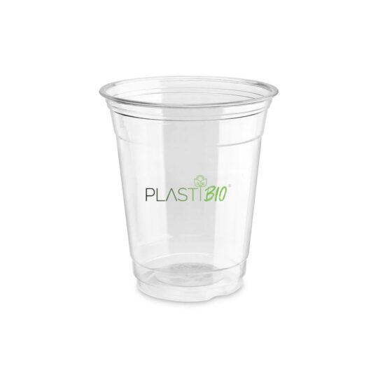 vaso transparente ecológico compostable de PLA de 12oz