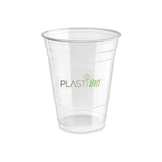 Vaso Ecológico Biodegradable Transparente de PLA de 16oz.