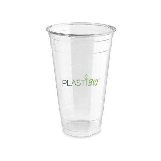 Vaso Ecológico Compostable Transparente de PLA de 20oz.