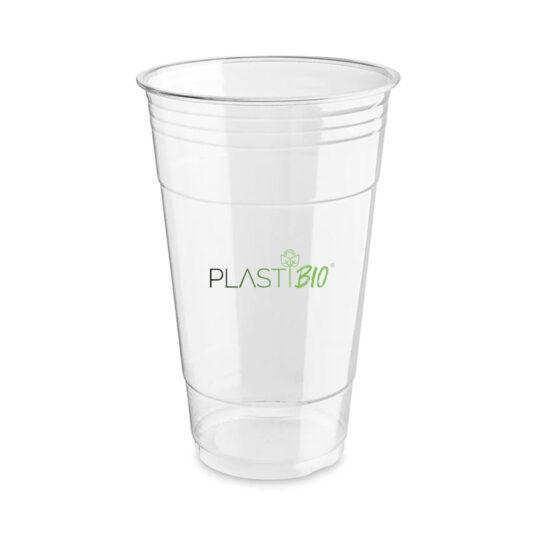 Vaso Ecológico de PLA Transparente y Compostable de 24oz.
