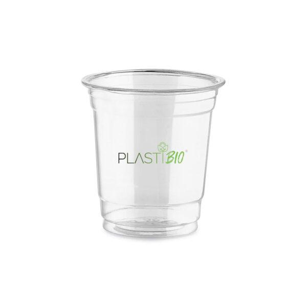vaso transparente ecológico biodegradable de PLA de 6oz